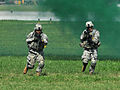 U.S. Soldiers, with the 4th Brigade Combat Team, 101st Airborne Division, conduct an assault operation on an enemy position during training at Campbell Army Airfield on Fort Campbell, Ky., Aug. 7, 2012 120807-A-SG577-003.jpg