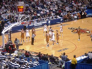 2008 NCAA Division I Women's Basketball Tournament - The University of Connecticut Huskies play the University of Texas Longhorns in the second round at Arena at Harbor Yard in Bridgeport, Connecticut.
