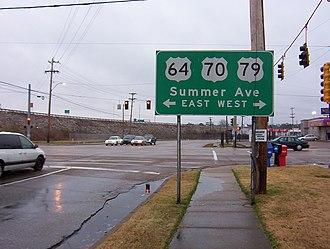 U.S. Route 64 - Image: US64 US70 US79 Memphis