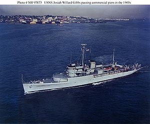 USS San Carlos (AVP-51) - USNS Josiah Willard Gibbs in the 1960s.