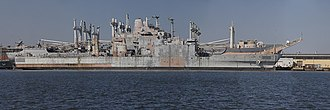 USS Boulder (LST-1190) - A stitch of several photos taken at the Philadelphia Navy Yard in February of 2019 of the former LST 1190, USS Boulder
