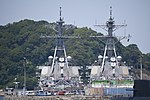 USS Curtis Wilbur (DDG-54) & Benfold (DDG-65) behind view at U.S. Fleet Activities Yokosuka April 30, 2018.jpg