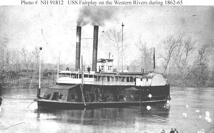 USS Fairplay on the Western Rivers during 1862–65