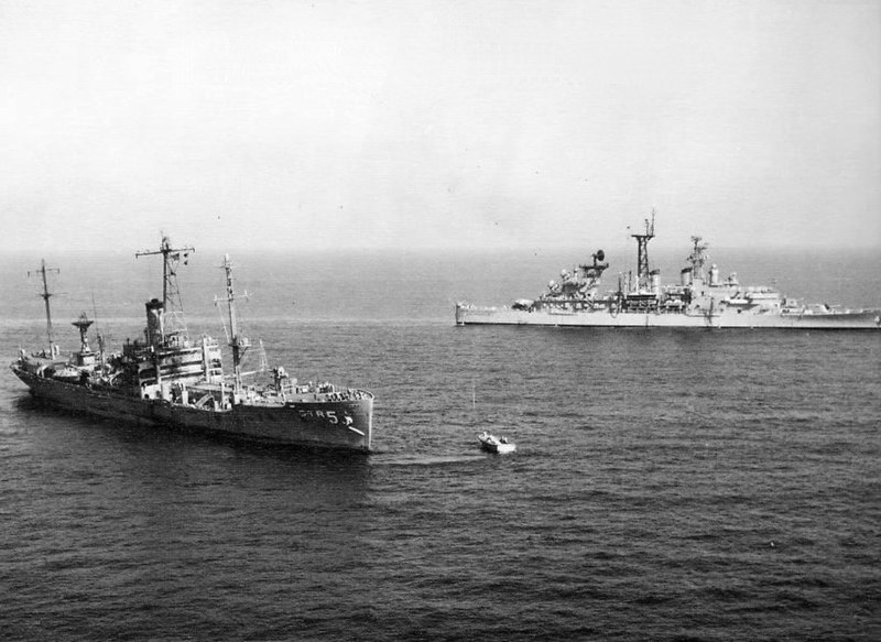 File:USS Liberty (AGTR-5) with USS Little Rock (CLG-4) 1967.jpg