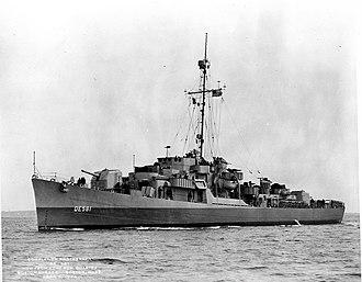 USS McNulty (DE-581) - Image: USS MCNULTY (DE 581)