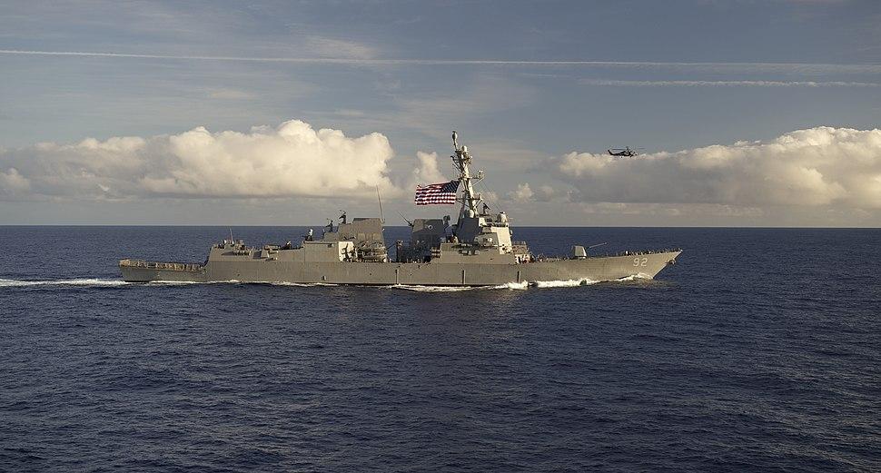 USS Momsen transits the Pacific Ocean. (25972242113)