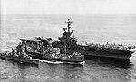 USS Neches (AO-47) refuels USS Kearsarge (CVS-33) and USS Renshaw (DD-499) in 1966.jpg