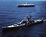 USS Newport News (CA-148) and Enterprise (CVAN-65) in 1962.jpg