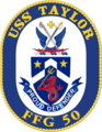 USS Taylor FFG-50 Crest.png