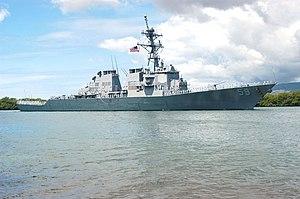 USS Russell off the coast of Hawaii.