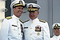 US Navy 031003-N-5319A-007 Admiral Vern Clark, Chief of Naval Operations (CNO) congratulates Adm. Robert J. Natter, Commander U.S. Atlantic Fleet, during his Change of Command ceremony.jpg
