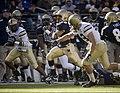 US Navy 071201-N-0696M-382 U.S. Naval Academy Midshipmen senior slot back Zerbin Singleton (28) breaks-away for a 38 yard rushing touchdown.jpg