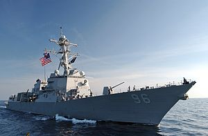 US Navy 071206-N-5459S-026 The guided-missile destroyer USS Bainbridge (DDG-96) is underway off the coast of Somalia.jpg