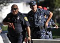 US Navy 101028-N-2055M-318 Florentino Herrera, a police officer at Commander, Navy Region Southwest, leads his team of security officers to the Pac.jpg