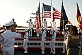 US Navy 110907-N-CZ945-244 The color guard parades the colors at the U.S. 7th Fleet change of command ceremony aboard USS Blue Ridge (LCC 19).jpg
