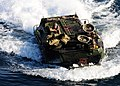 US Navy 111101-N-YG354-189 An amphibious assault vehicle assigned to the 11th Marine Expeditionary Unit (11th MEU) approaches the amphibious assaul.jpg