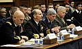 US Navy 111102-N-FC670-218 Chief of Naval Operations (CNO) Adm. Jonathan Greenert, second from left, testifies before the House Armed Services Comm.jpg