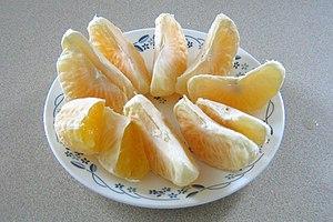 Ugli fruit sections