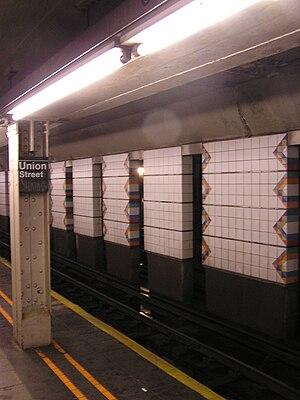 Union Street (BMT Fourth Avenue Line) - Image: Union BMT track