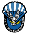 United States Air Force Parachute Team Wings of Blue logo.png