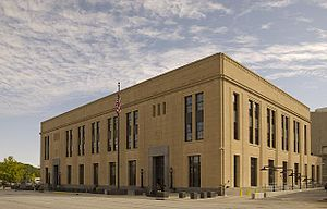 United States Courthouse (Davenport) - U.S. Courthouse, October, 2008
