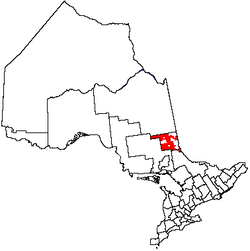 Location of Unorganized West Timiskaming District