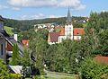 Unterkirnach, VS - Rossackerweg - Kirche v O.jpg