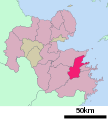 Usuki in Oita Prefecture Ja.svg