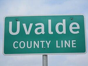 Uvalde County, Texas - Uvalde County marker
