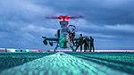 VMM 163 Marines swap pilots for an AH-1Z Viper aboard USS John P. Murtha (LPD-26).jpg
