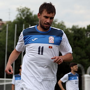 Kyrgyzstan national football team - Vadim Kharchenko is the most capped player in the history of Kyrgyzstan with 54 caps.