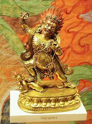 Vajrapani - Tibetan depiction of the wrathful Vajrapāni