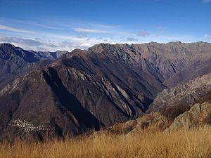 Val Grande National Park - Image: Val pogallo cicogna cima pedum cima della laurasca
