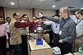 Van de Graaff Generator Experimentation - Indo-Finnish-Thai Exhibit Development Workshop - NCSM - Kolkata 2014-11-27 9759.JPG