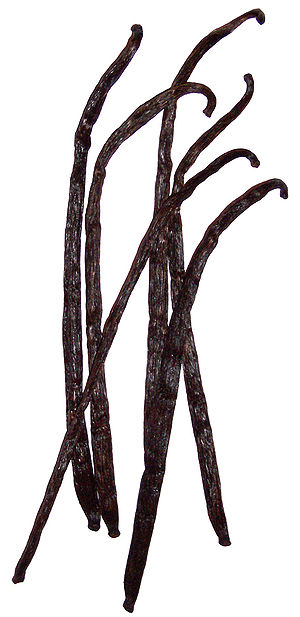 Vanilla fruits, dried