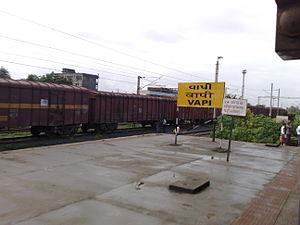 Vapi railway station - Image: Vapi stationboard 02