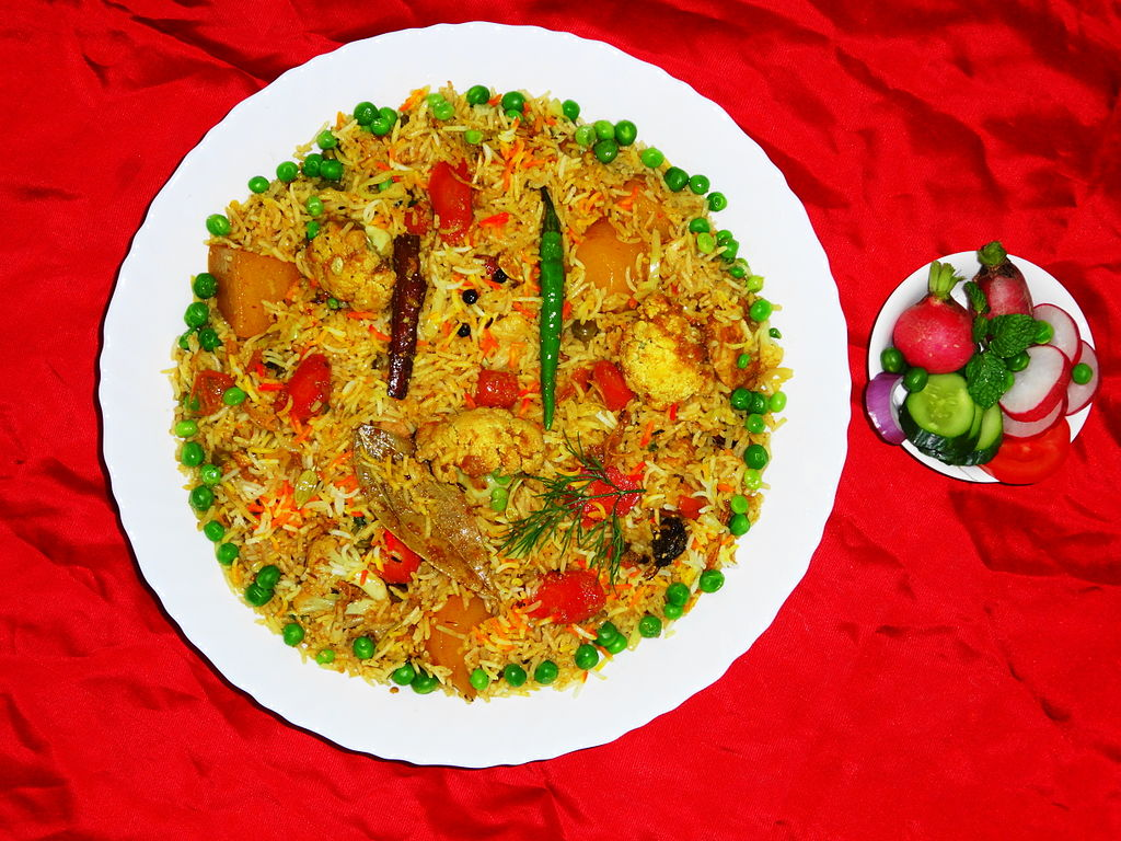 Vegetable Biryani the best vegan food in india