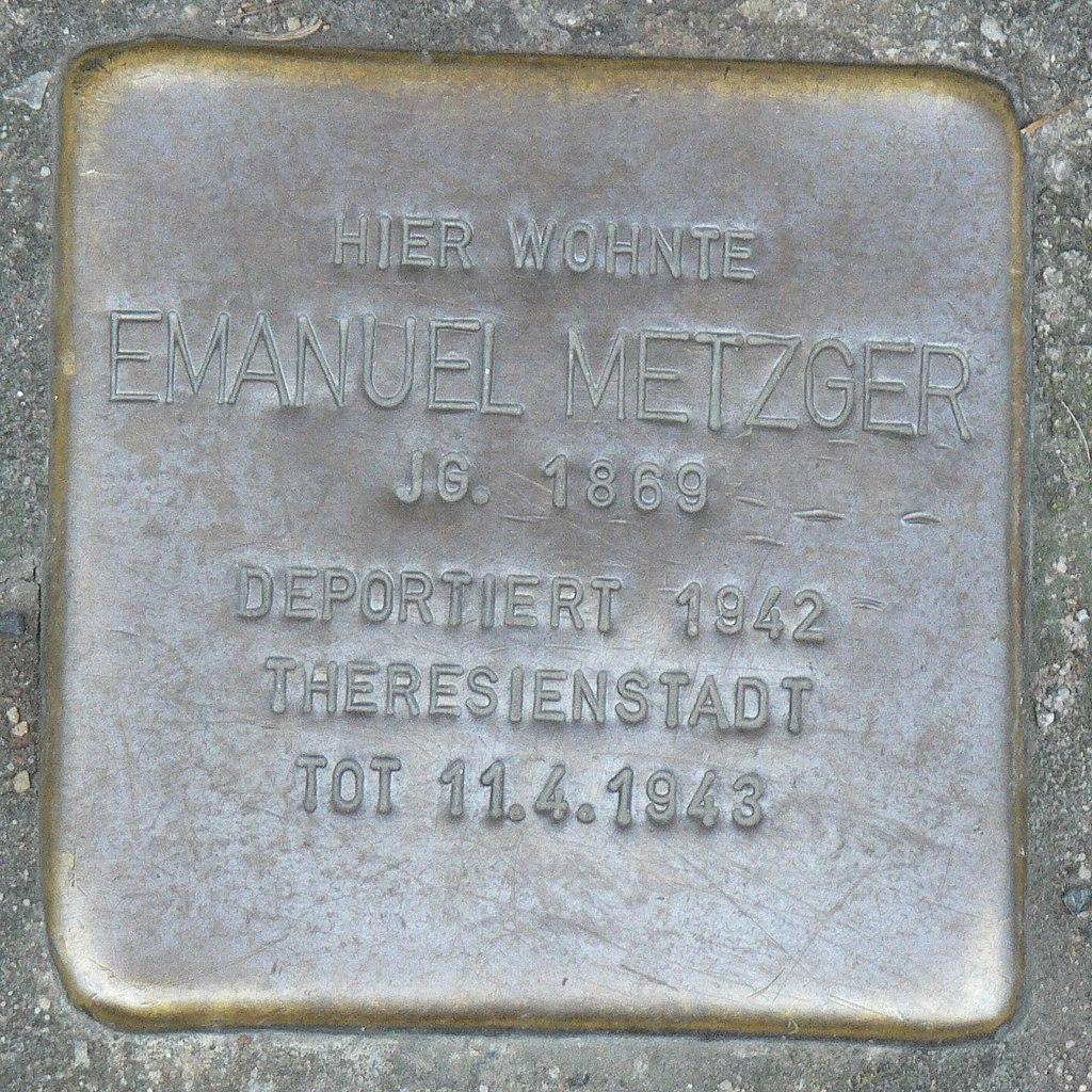 Veitshöchheim - Stolperstein Emanuel Metzger (Bahnhofstraße 24).jpg
