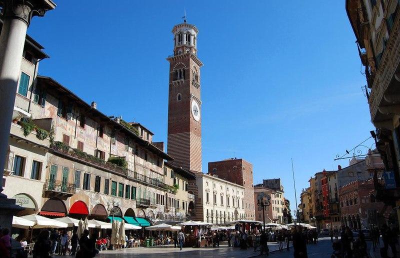 Mapa dos pontos turísticos de Verona