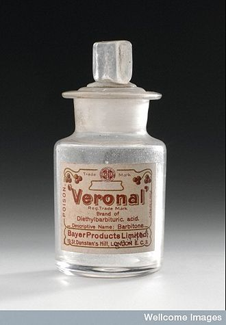 Pharmaceutical industry - Diethylbarbituric acid was the first marketed barbiturate. It was sold by Bayer under the trade name Veronal