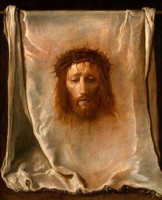 Passion of Jesus - The Veil of Veronica, painting by Domenico Fetti (c. 1620).