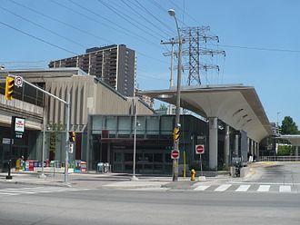Victoria Park station (Toronto) - Image: Victoria Park TTC west end