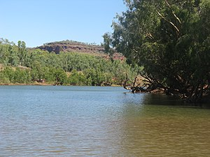 Victoria River (Northern Territory) - Victoria River access, near the roadhouse Victoria River crossing