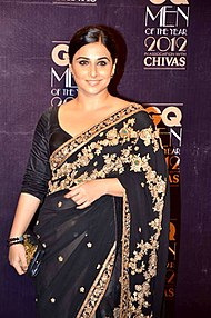 A picture of Vidya Balan, looking towards the camera.