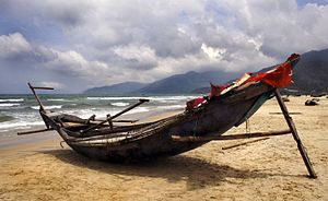 Traditional fishing boat - Traditional Vietnamese fishing boat
