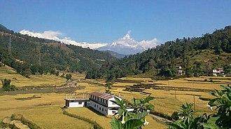Phedikhola - Image: View Phedikhola Syangja Nepal
