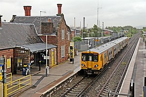 Ellesmere Port railway station - A Merseyrail Class 507 at the station.
