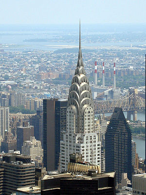 A view of the Chrysler Building from the Empir...