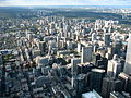 View of Toronto from the CN Tower in October 2009.jpg