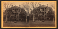 View of a large house with civil and military personnel on porches, from Robert N. Dennis collection of stereoscopic views.png